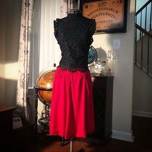 Vintage circle skirt with pocket